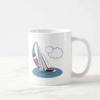 Spinnaker in the Wind Basic White Mug