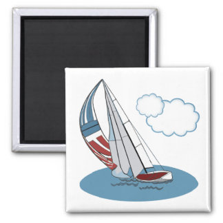 Spinnaker in the Wind Refrigerator Magnets
