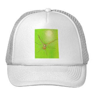 Spinne auf Blatt Mesh Hat