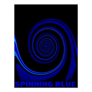 SPINNING BLUE POSTER