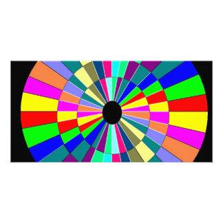 Spinning Circle Custom Photo Card
