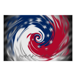 Spinning Circle of Independence Poster