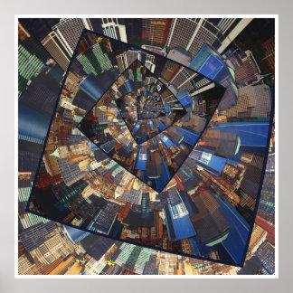 Spinning City Walls Poster
