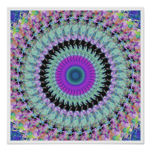Spinning Colors Mandala Posters
