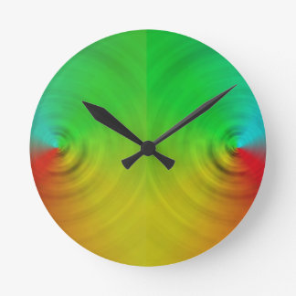 Spinning colours in reflection clocks
