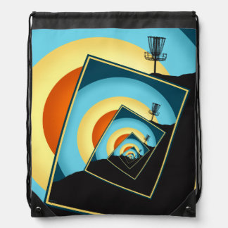 Spinning Disc Golf Baskets 1 Drawstring Bag