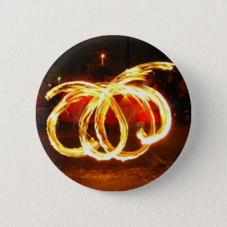 Spinning Fire 6 Cm Round Badge