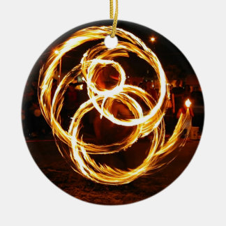 Spinning Fire - Abstract Christmas Ornament
