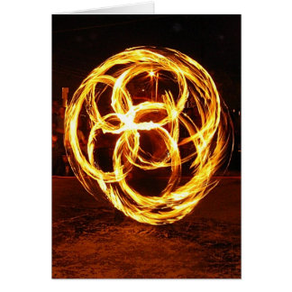 Spinning Fire - Celtic Knot Card