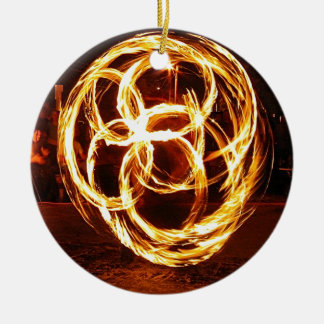 Spinning Fire - Celtic Knot Christmas Ornament