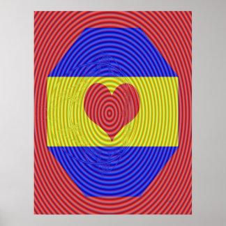 Spinning Heart Poster