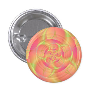 Spinning Horns in Pink and Yellow 3 Cm Round Badge