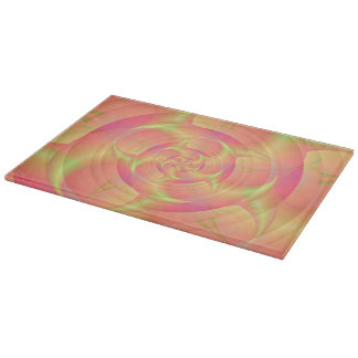 Spinning Horns in Pink and Yellow Cutting Board
