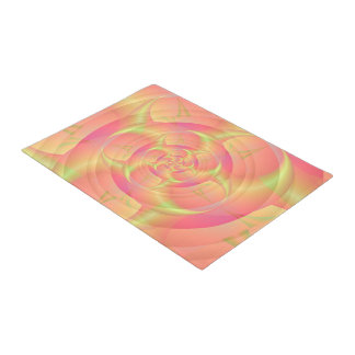 Spinning Horns in Pink and Yellow Doormat