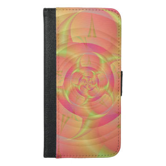 Spinning Horns in Pink and Yellow iPhone 6/6s Plus Wallet Case