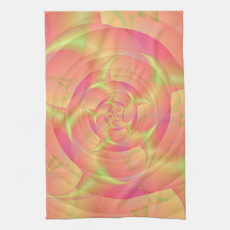 Spinning Horns in Pink and Yellow Kitchen Towels