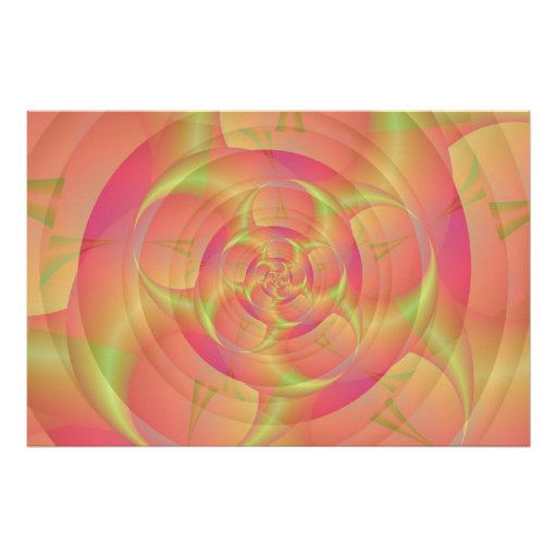 Spinning in Pink and Yellow Poster