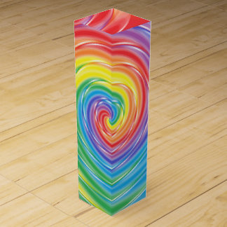 Spinning Rainbow Wine Gift Box