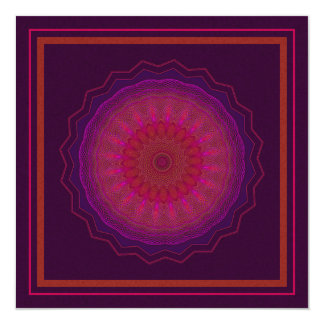 Spinning Soul Kaleidoscope 13 Cm X 13 Cm Square Invitation Card