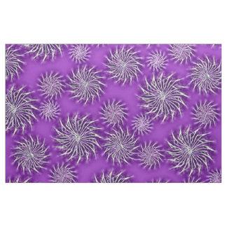Spinning stars energetic pattern purple fabric