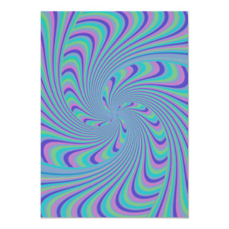 Spinning Top Abstract 13 Cm X 18 Cm Invitation Card