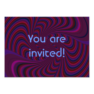 Spinning Top Abstract - Birthday Party 13 Cm X 18 Cm Invitation Card