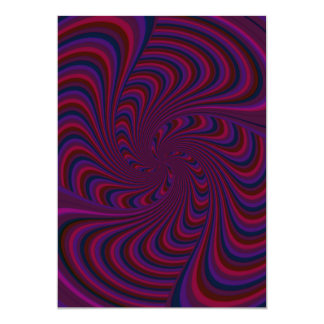 Spinning Top Abstract 5x7 Paper Invitation Card