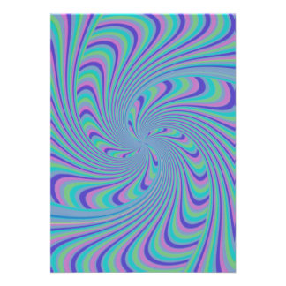 Spinning Top Abstract Personalized Announcements