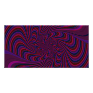 Spinning Top in Dark Colors Abstract Customised Photo Card