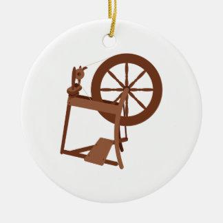 Spinning Wheel Christmas Ornament