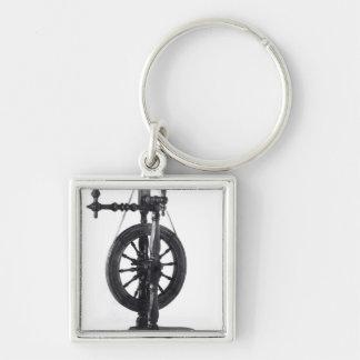 Spinning wheel keychain
