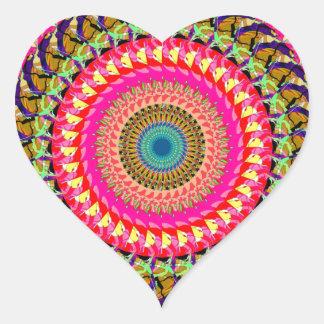 Spinning Wheel of Symmetry Heart Stickers