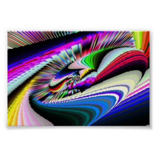 Spinning Wheel Psychedelic II Posters