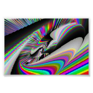 Spinning Wheel Psychedelic Poster
