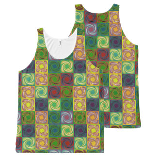Spinny All-Over Print Tank Top