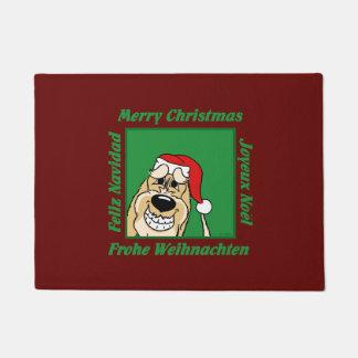 Spinone Italiano brightly Christmas Doormat