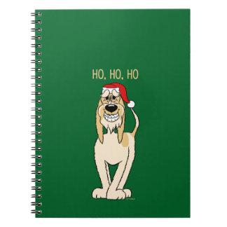 Spinone Italiano brightly Santa Notebooks