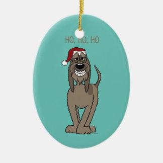 Spinone Italiano darkly Santa Christmas Ornament