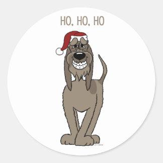 Spinone Italiano darkly Santa Classic Round Sticker