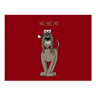 Spinone Italiano darkly Santa Postcard