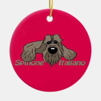 Spinone Italiano dkl. Head Cute Round Ceramic Decoration