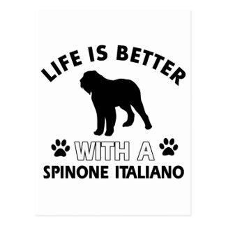 Spinone Italiano dog breed designs Postcard
