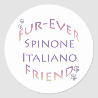 Spinone Italiano Furever Friend Classic Round Sticker