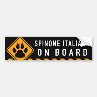 Spinone Italiano On Board Bumper Sticker