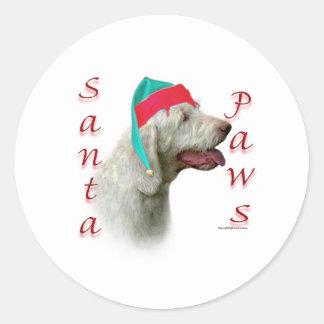 Spinone Italiano Santa Paws Classic Round Sticker