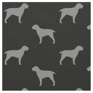 Spinone Italiano Silhouettes Pattern Fabric