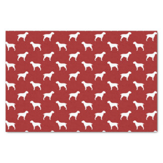 Spinone Italiano Silhouettes Pattern Red Tissue Paper