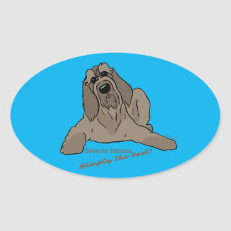 Spinone Italiano - Simply the best! Oval Sticker