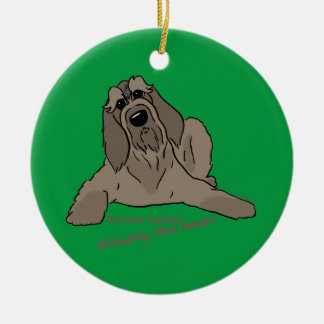 Spinone Italiano - Simply the best! Round Ceramic Decoration