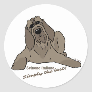 Spinone Italiano - Simply the best! Round Sticker